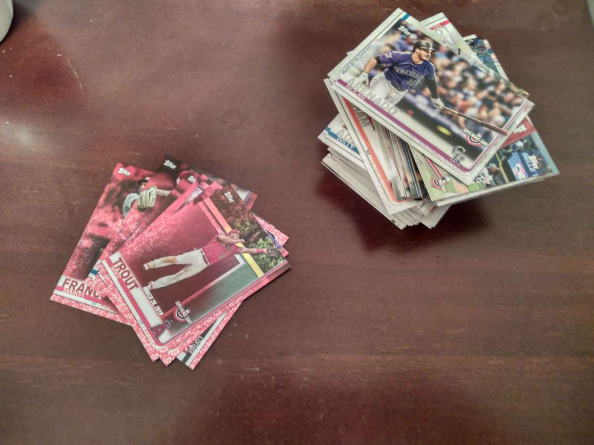 A stack of baseball cards -- Image provided by the author