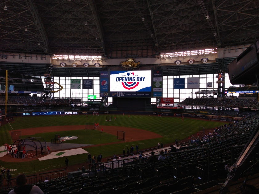 Opening Day at Miller Park - Image provided by the author