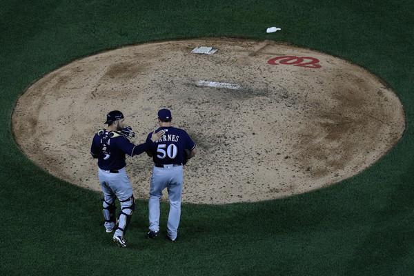 Jacob Barnes of the Milwaukee Brewers. Rob Carr/Getty Images North America via Zimbio
