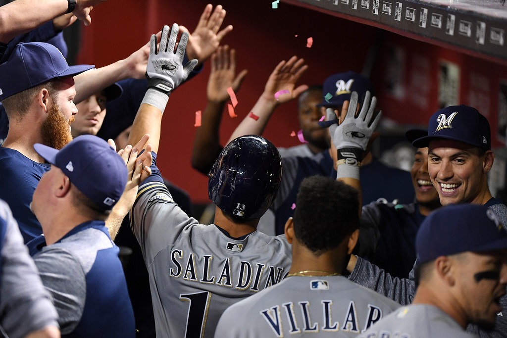 Norm Hall/Getty Images North America via Zimbio. Will Jonathan Villar and Tyler Saladino be enough at 2B to keep the Brewers rolling?