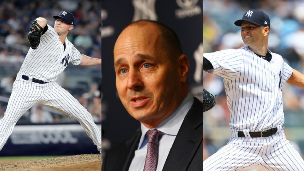 New+York+Yankees+Zach+Britton+Brian+Cashman+JA+Happ