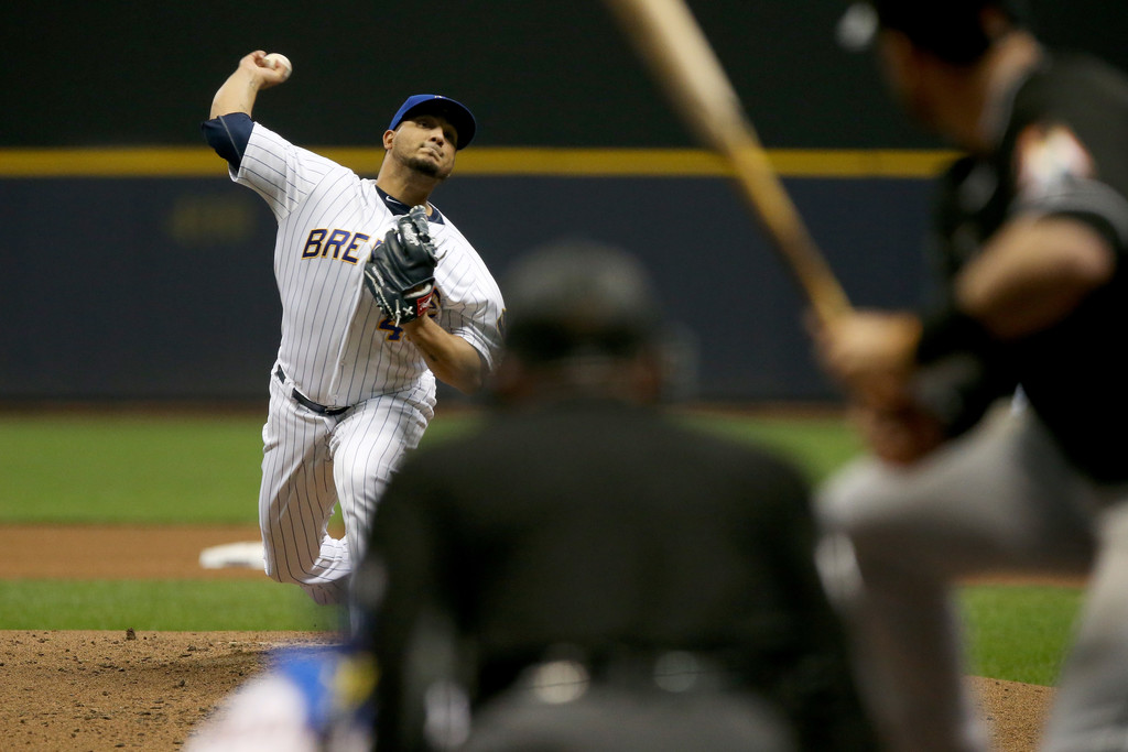 Jhoulys Chacin and the Milwaukee Brewers starting rotation Dylan Buell/Getty Images North America via Zimbio