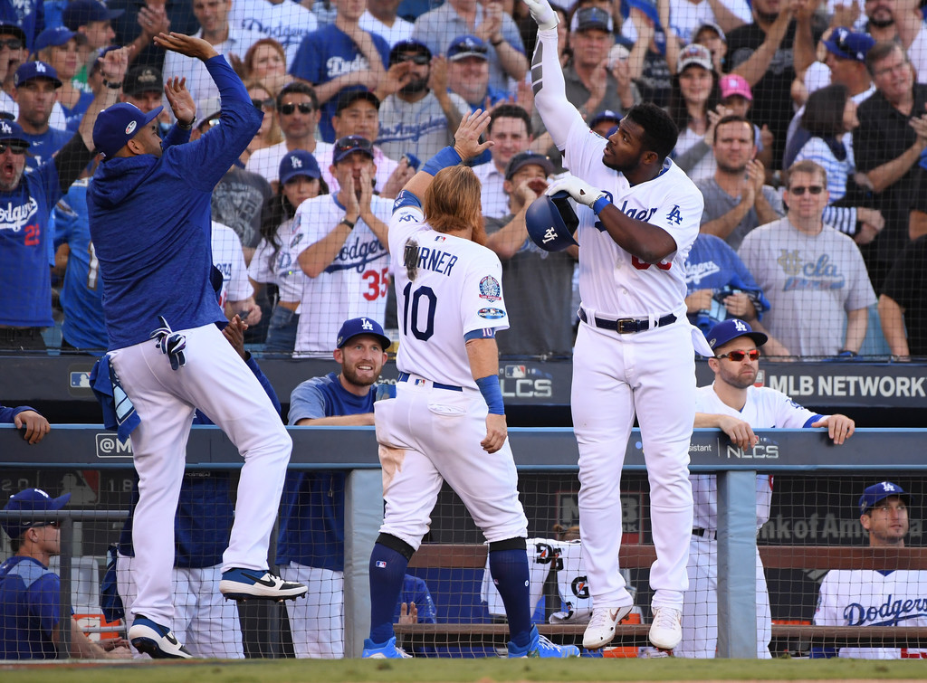 The Dodgers have a 3-2 lead in the NLCS - Harry How/Getty Images North America via Zimbio