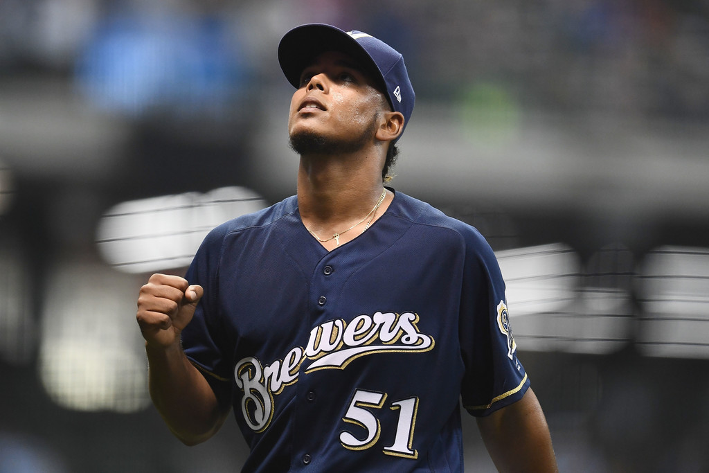 Freddy Peralta of the Milwaukee Brewers, Stacy Revere/Getty Images North America via Zimbio